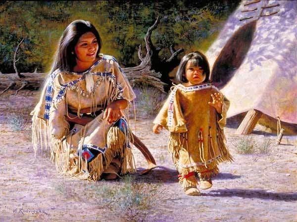 Famille amérindiens.