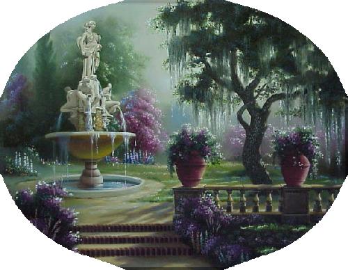 Tube beau jardin pour créa.