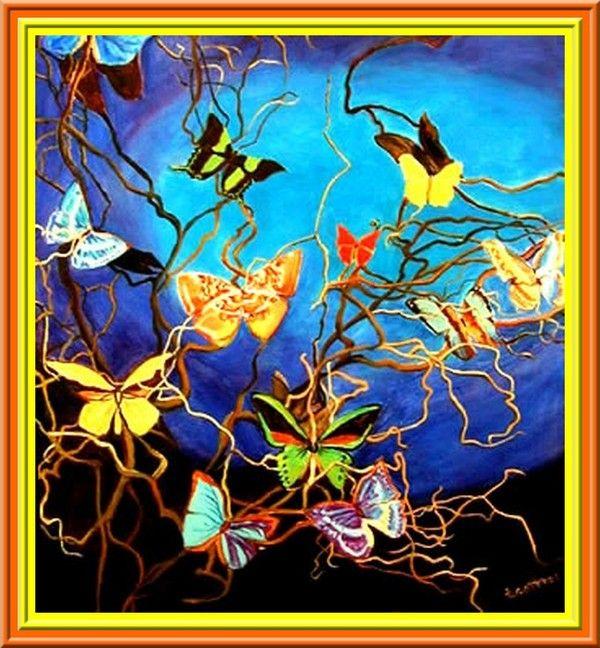 Beaux papillons divers.
