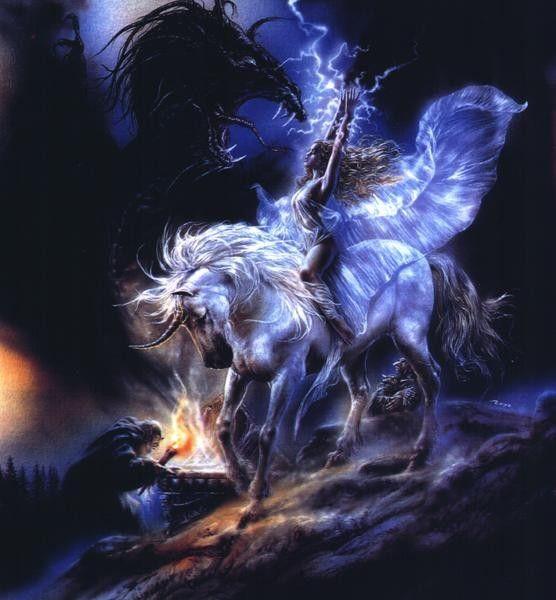 Licorne,fée et dragons.